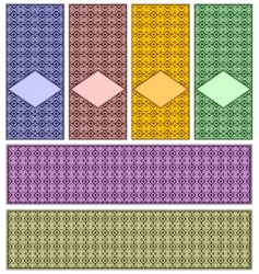 complete set of patterns vector image