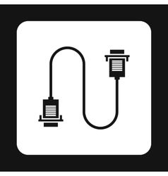 Cord VGA icon simple style vector