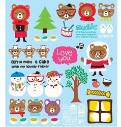 Cute christmas doodle vector