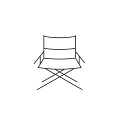 Directors chair line icon vector image