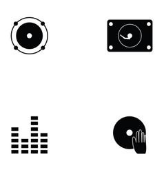 dj icon set vector image