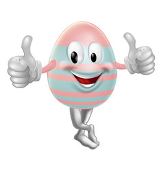 easter egg mascot drawing vector image