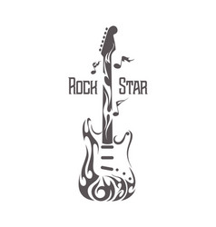 electric rock guitar image vector image