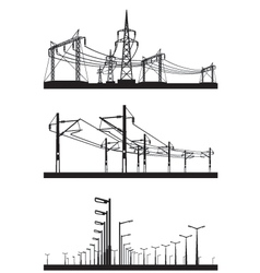 Electrical installations set vector image