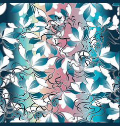 elegance floral seamless pattern vector image