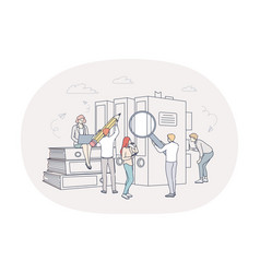 finance analytics teamwork concept vector image