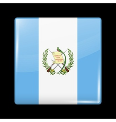 Flag of Guatemala Glossy Icon Square Shape vector image