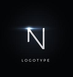 Futurism style letter n minimalist type vector