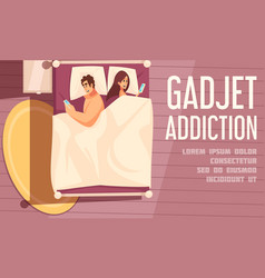 Gadget addiction poster vector