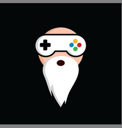 Game guru - master gamer - video game theme logo vector