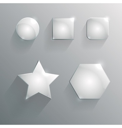 glass geometric shapes vector image