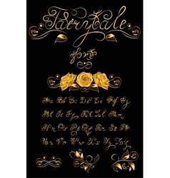 Gold Fairytale hand drawn calligraphic vector image