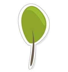 Green tree sign icon sticker or modern logo vector image