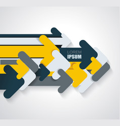 group of paper arrows abstract design vector image
