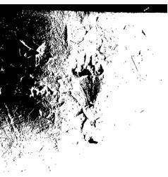 grunge black textures on white background vector image
