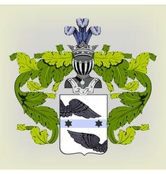 Heraldic coat of arms vector