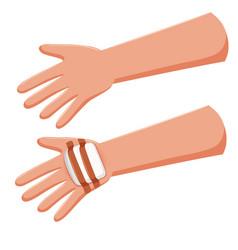 Human hand with bandage vector