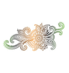 Indian traditional mehndi ornament vector