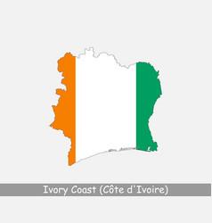 Ivory coast map flag vector