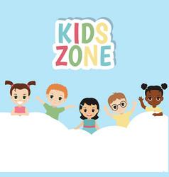 Kids zone banner design kids zone banner design vector