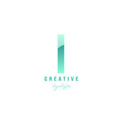 L green pastel gradient alphabet letter logo icon vector