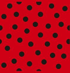 Ladybug pattern seamless vector