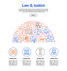 Law and lawyer card vector