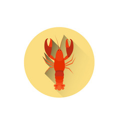 Lobster icon sea food street meal concept vector