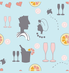 love and champagne-spa in the country vector image