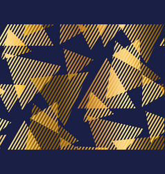 luxury seamless pattern with triangle elements vector image