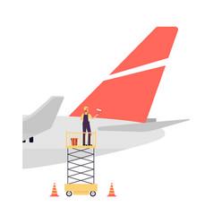 Maintenance and repair aircraft maintenance vector