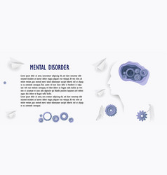 Mental health poster in paper style business vector
