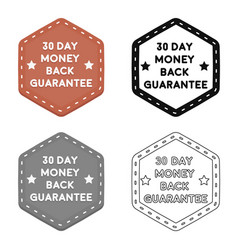 Money back guarantee icon in cartoon style vector