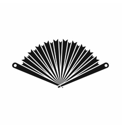 Opened oriental fan icon simple style vector image