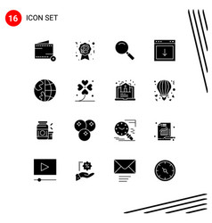 Pack 16 creative solid glyphs south down vector