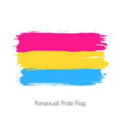 pansexual lgbt watercolor flag vector image