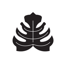 philodendron black concept icon vector image