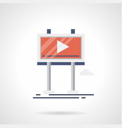 Promo video screen flat color icon vector