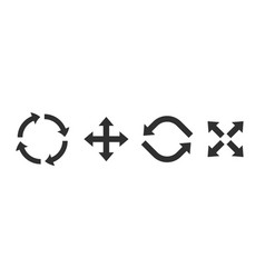 refresh symbols black flat icons combination of vector image
