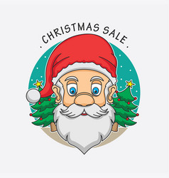 Santa claus christmas sale logo vector