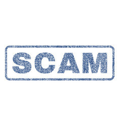Scam textile stamp vector