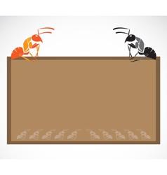 School blackboard with ant vector