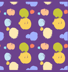 seamless colorful pattern with abstract circles vector image