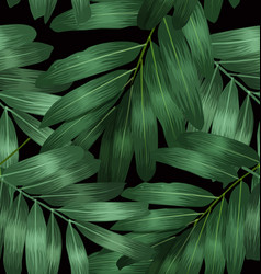 seamless foliage pattern7 vector image