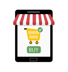 shop on tablet vector image