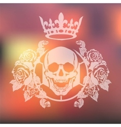 Skull roses and Karon vector image