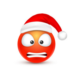 smileyemoticon red emoji face with emotions and vector image