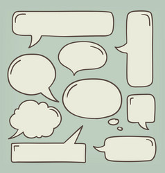 speech bubble doodle set vector image