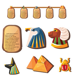 Stone board or clay tablet with animal head vector