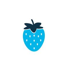 strawberries icon colored symbol premium quality vector image